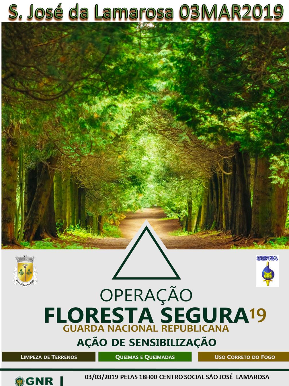Operação Floresta Segura 2019 – Ação de sensibilização