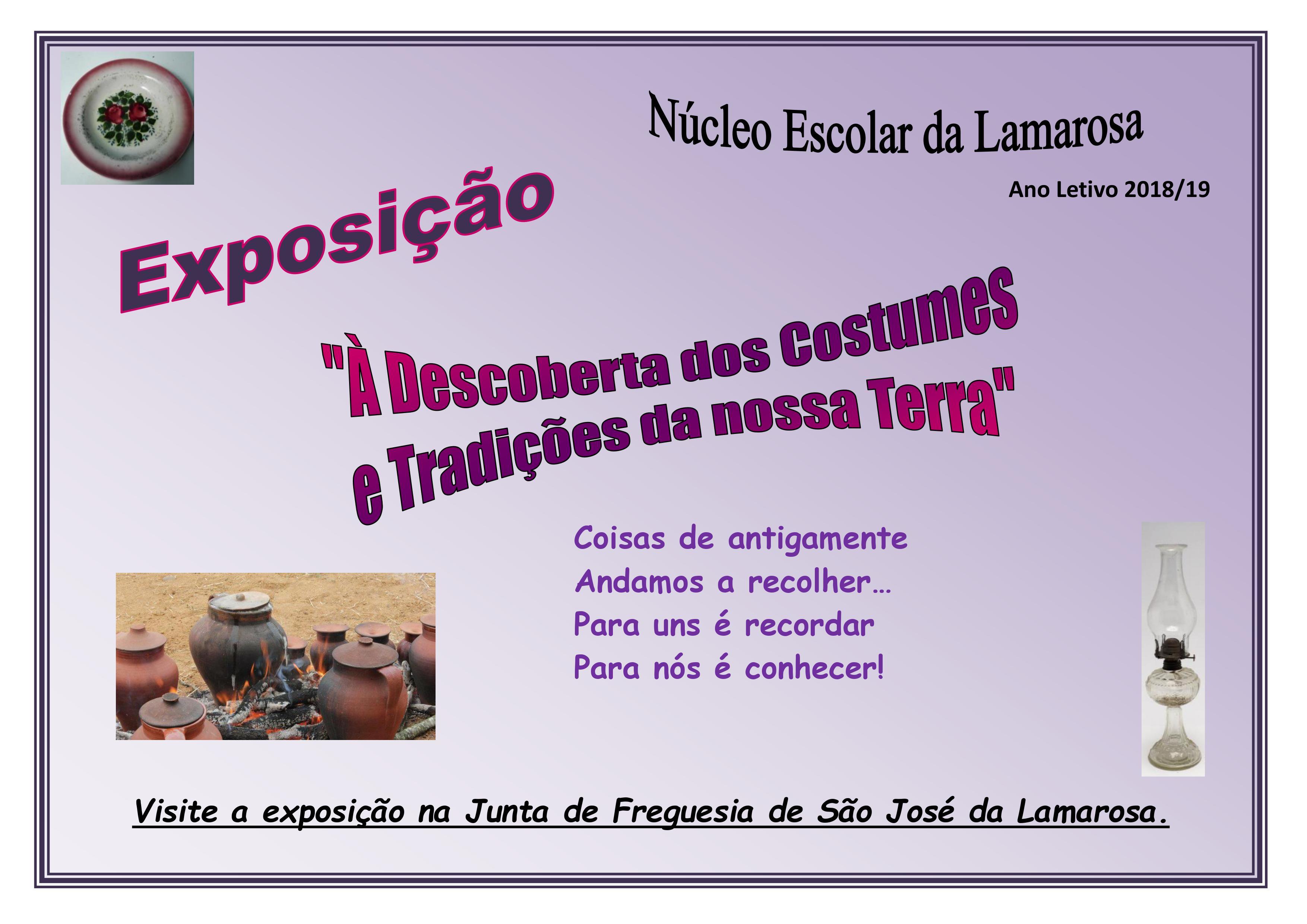 """Exposição – """"À descoberta dos costumes e tradições da nossa terra"""""""